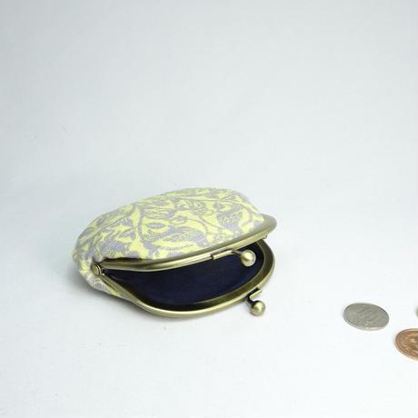 3.3寸丸小銭入れ 森の動物 レモン色にグレー