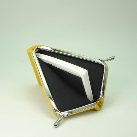 名刺カードケース 帆布 キャメル色