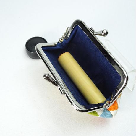 2.5寸印鑑ケース(朱肉付き)カラフル市松 黄色