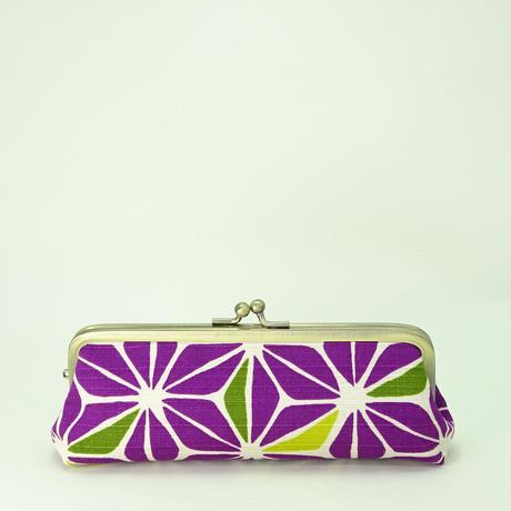 5.5寸ペンケース 麻葉 紫色
