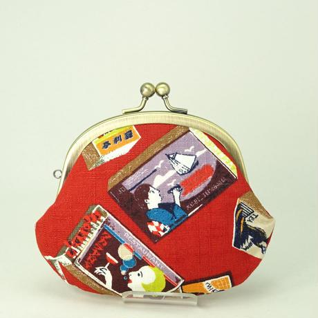 3.3寸丸小銭入れ マッチ箱 エンジ色