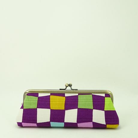 5.5寸ペンケース 虹市松 紫色