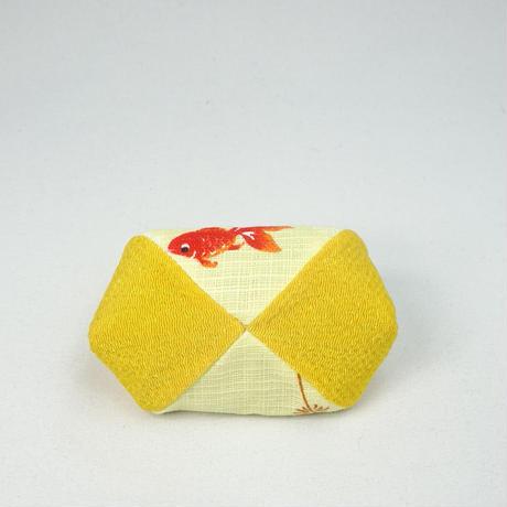 2.5寸四つはぎ  金魚 黄色