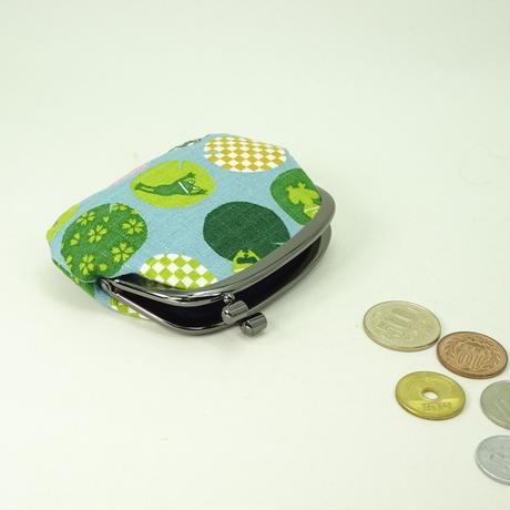 3.0寸タワラ玉横捻り小銭入れ かえる 水色