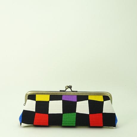5.5寸ペンケース 虹市松 黒色