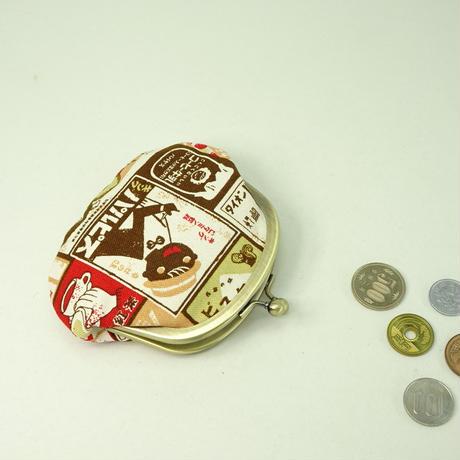 3.3寸丸小銭入れ レトロ看板 ピンク色①