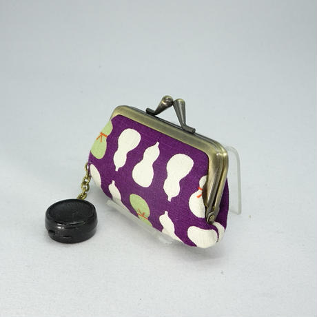 2.5寸印鑑ケース(朱肉付き)ひょうたん 紫