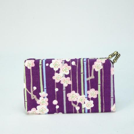名刺カードケース 竹と梅紫