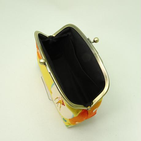 5.5寸リング付ポーチ レトロ バンビ・いぬ 黄色