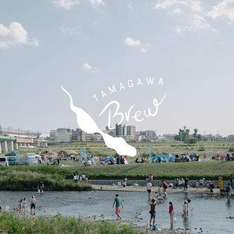 """""""TAMAGAWA BREW"""" Original Tshirt ブルー"""