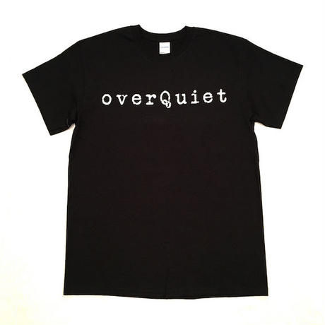 "【 tr.4 suspension 】""OVERQUIET"" S/S TEE ( BLACK )"