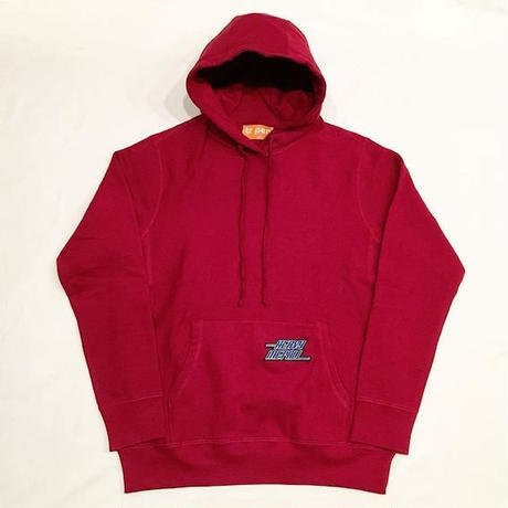 "【 tr.4 suspension 】""HEAVY MET ALL"" PULLOVER HOODED ( BURGUNDY )"