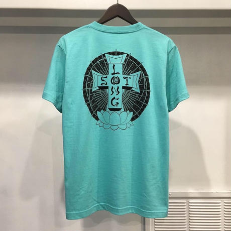 "【 LONG SET ORIGINAL 】LSD-001 ""DOG TOWN"" S/S T-SHIRT ( TIFFANY BLUE )"