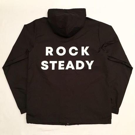 """【 tr.4 suspension 】""""ROCK STEADY"""" HOODED WINDBREAKER ( BLACK )"""