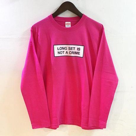 """【 LONG SET ORIGINAL 】LSD-021 """"NOT A CRIME"""" LONG SLEEVE T-SHIRT (PINK)"""