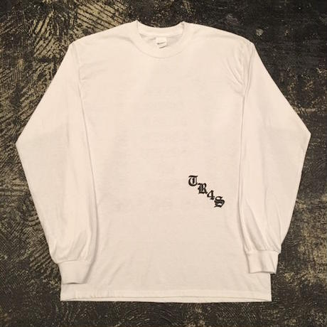 "【 tr.4 suspension 】""TR4S SKATE"" L/S TEE ( WHITE )"