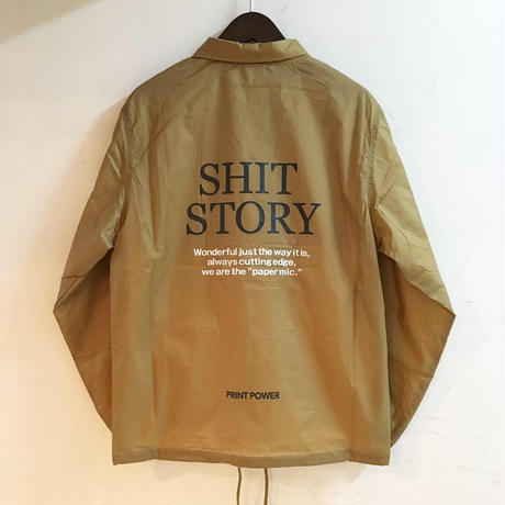 "【 PAPERMIC 】""SALESMAN"" COACH JACKET ( GOLD )"