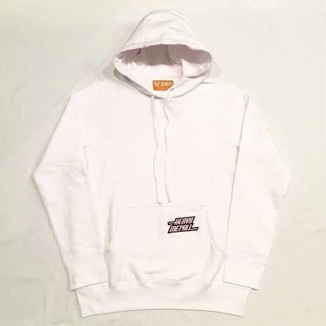"【 tr.4 suspension 】""HEAVY MET ALL"" PULLOVER HOODED ( WHITE )"