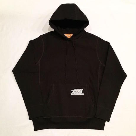 "【 tr.4 suspension 】""HEAVY MET ALL"" PULLOVER HOODED ( BLACK )"