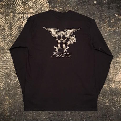 "【 tr.4 suspension 】""VULTURE"" L/S TEE ( BLACK )"