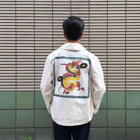 "【 CUSHMAN × LONG SET 】LSD-034 ""CHINA DRAGON"" COVERALL"