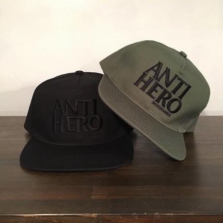 "【 ANTI HERO 】""BLACK HERO"" EMBROIDERY SNAPBACK CAP ( 全2色 )"