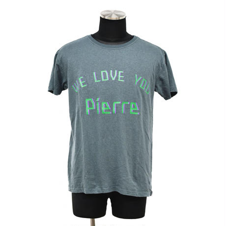 "予約商品【 ARIGATO FAKKYU 】HEMP-T ""WE LOVE YOU Pierre"" ( #2 深藍 )"