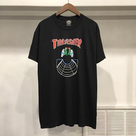 【 THRASHER 】DOUBLES S/S TEE ( BLACK )