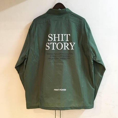 "【 PAPERMIC 】""SALESMAN"" COACH JACKET ( GREEN )"
