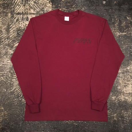 "【 tr.4 suspension 】""VULTURE"" L/S TEE ( BURGUNDY )"