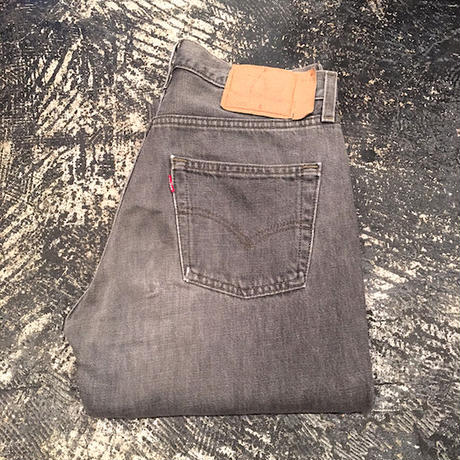 【OLD】 Levi's 501 BLACK DENIM PANTS (W29×L34)