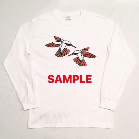 "【 tr.4 suspension 】""Humming Bird"" EDITION PRINT L/S TEE ( WHITE × ASSORT COLOR / LIMITED30 )"