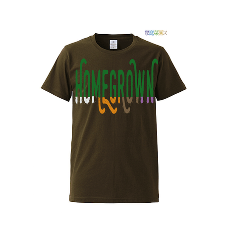 "【 ARIGATO FAKKYU 】""HOME GROWN"" PRINTED T-SHIRT ( #2 KHAKI )"