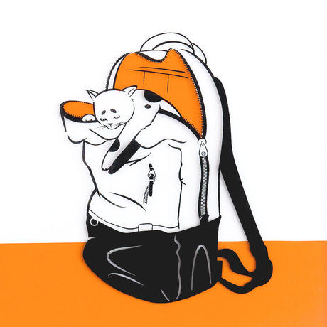Japanese Bobtail × Backpack