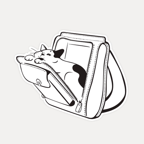 【STICKER-L SIZE】CATS IN THE BAG 05