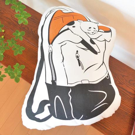 【CUSHION】Japanese Bobtail × Backpackのクッション