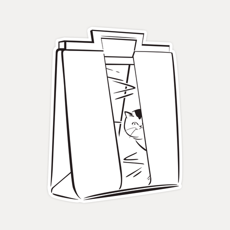 【STICKER-L SIZE】CATS IN THE BAG 03