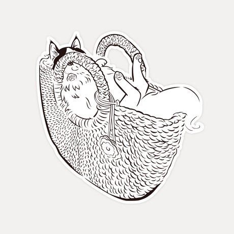 【STICKER-S SIZE】CATS IN THE BAG 03