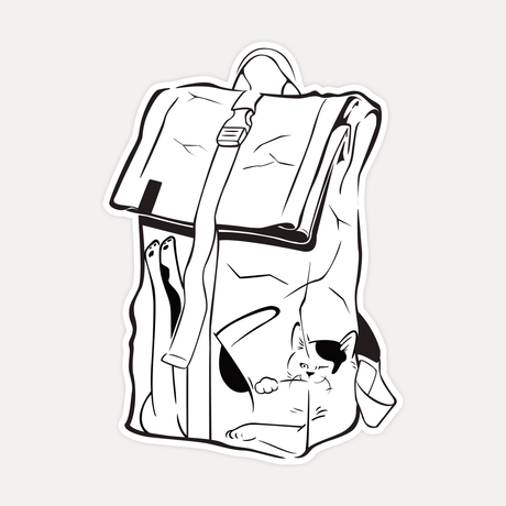 【STICKER-L SIZE】CATS IN THE BAG 02