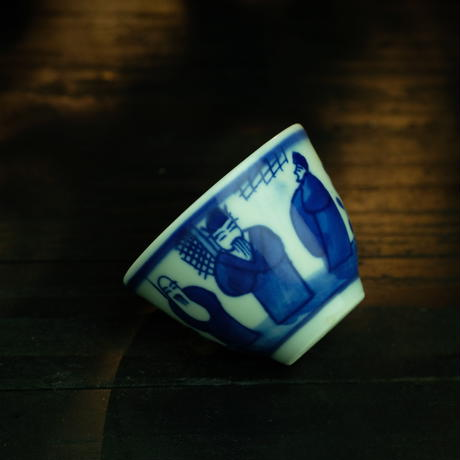 民窯風染付茶杯 PC068
