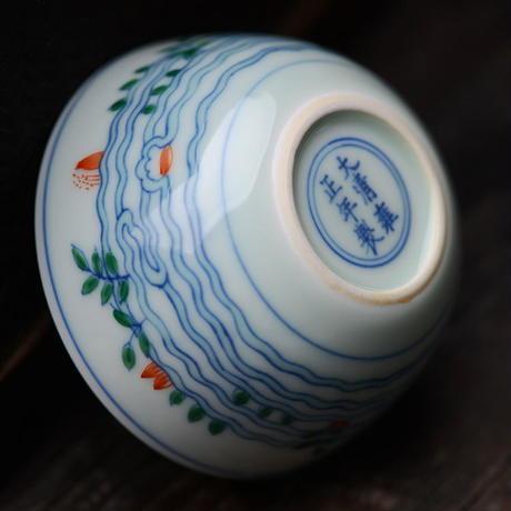 雍正款手描き斗彩茶杯 PC044