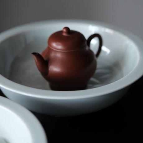 青白磁茶盤 蓮紋 PW054