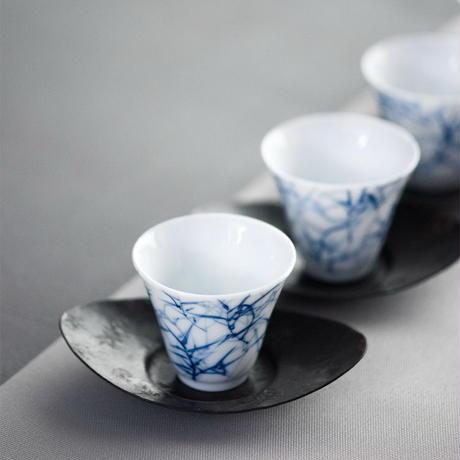手描き茶杯 竹 PG047