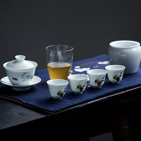 手描き茶杯 兎 PG041