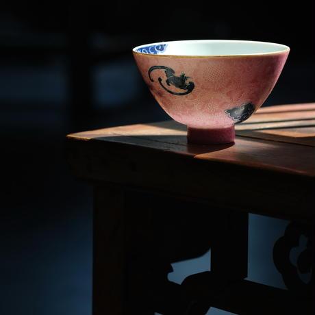 過墙紋扒花茶杯 祥雲蝙蝠 PC071