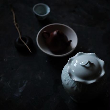 青白磁茶筒 PW035-L