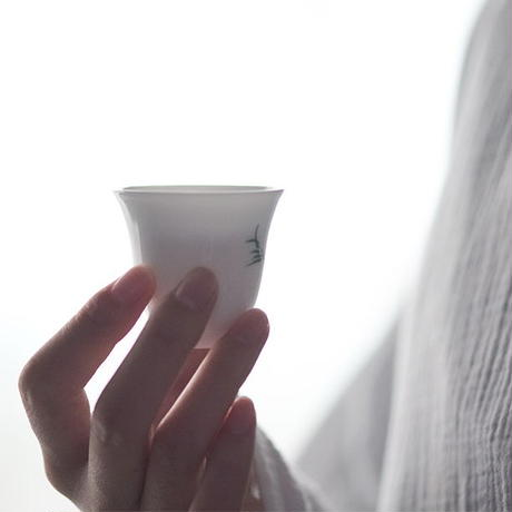 手描き茶杯 竹 PG048
