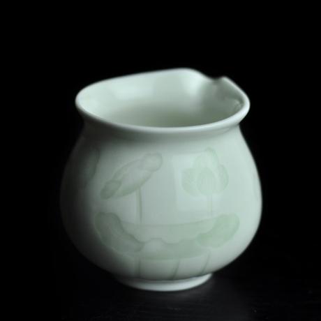 青白磁茶海 蓮 PC019