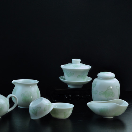 青白磁茶杯 蓮 PC018