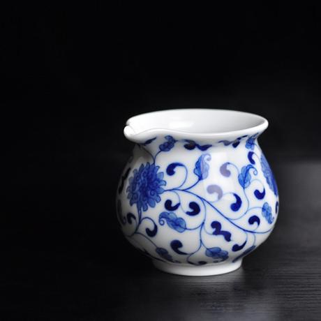 手描き染付茶海 纏枝蓮紋 PC029